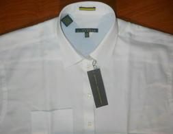 NWT New Kenneth Cole Reaction Men's Pure White Dress Shirt S