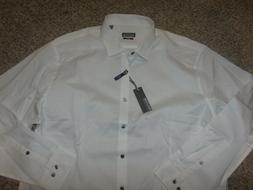 NWT NEW Kenneth Cole Reaction Slim Fit White Dress Shirt 17.