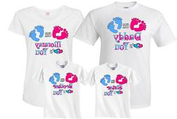 Pink or Blue Gender Reveal Family Funny matching cute T-Shir