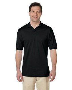 Jerzees Polo Shirt Men's Short Sleeve 5.6 oz 50/50 Jersey wi