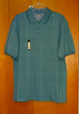 Haggar Polo Shirt Men's XL Aqua Haze Blue Short Sleeve Cotto