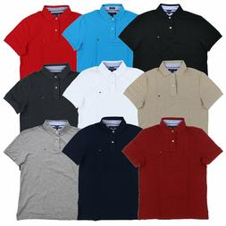 Tommy Hilfiger Polo Shirt Mens Custom Fit Mesh Solid Short S