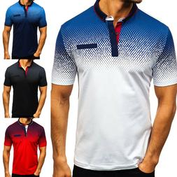 Polo Shirts Mens Short Sleeve Muscle T Shirt Golf Solid Casu