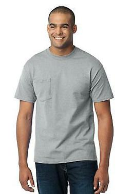 Port & Company Men Tall 50/50 Cotton/Poly T Shirt with Pocke