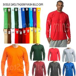 PRO CLUB MEN HEAVYWEIGHT SHIRT LONG SLEEVE PRO CLUB TEE ANY