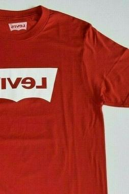 Red Levi's Men's T-Shirt with LOGO 100% Cotton