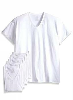 New Reinvented Tee Fruit of the Loom Men's White Crews, 6-pa