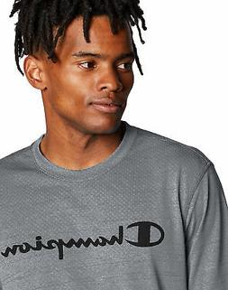 Champion Script Logo T-Shirt Men's Tee Double Dry Heather Me