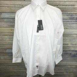 Kenneth Cole Reaction Shirt Men's Large 16-1/2 32-33 White W