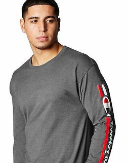 Champion T-Shirt Tee Men's Classic Jersey Long Sleeve Vertic