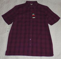 Tall -- Men's Haggar wine colored short sleeve shirt     NWT