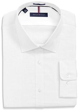 Tommy Hilfiger Mens Dress Shirts Non Iron Slim Fit Solid Spr
