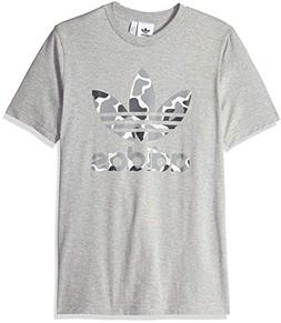 adidas Originals Men's Trefoil Tee Shirt, Grey Heather Camo