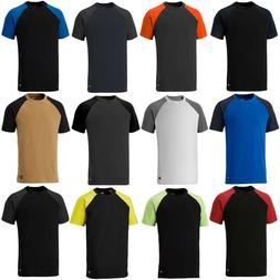 Dickies Two Tone T-Shirt Crew Neck Short Sleeve Work Mens Te