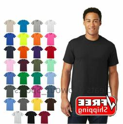 Gildan Ultra Cotton T-Shirt Mens Short Sleeve Tee Blank Soli
