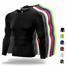 US Men Compression T Shirt Base Layer Tight Thermal Sport Lo