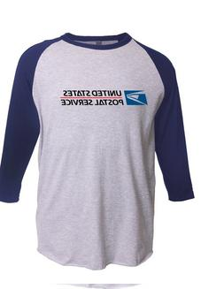 USPS POSTAL 3/4 SLEEVE RAGLAN T-SHIRT All COLORS Mail Carrie