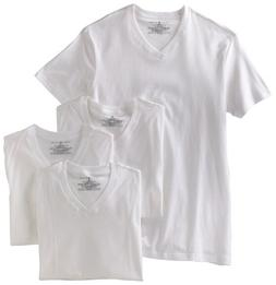 Tommy Hilfiger Men's 4 Pack V Neck Tee, White, Small
