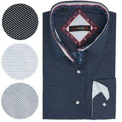 Alpine Swiss Wayne Mens Long Sleeve Button Down Dress Shirt