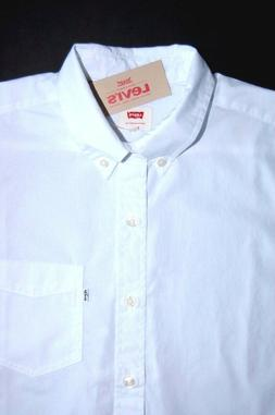White Levi's Short Sleeve Men's Button-Front Shirt 219770010