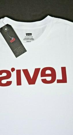 White Levi's White Men's Short Sleeve T-Shirt: 22491-0472